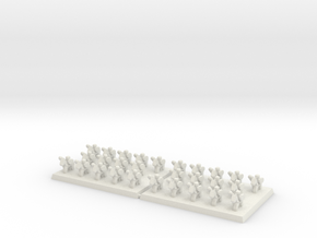 3mm DBA Light Cavalry Spears 40x30xx (x2) in White Natural Versatile Plastic