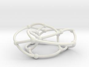 Pappus graph on torus in White Natural Versatile Plastic