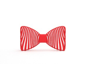 Bowtie Zebra Pattern in Red Processed Versatile Plastic