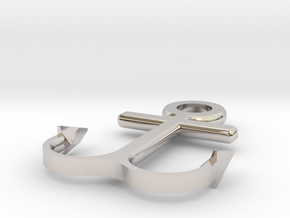 Anchor bracelet in Rhodium Plated Brass