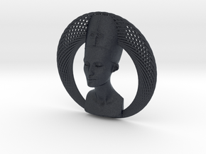 Wire Curve Art + Nefertiti (003a) in Black PA12