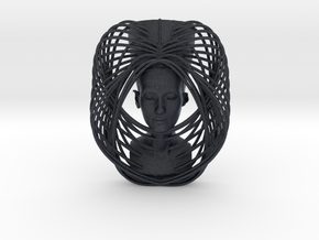 Wire Curve Art + Nefertiti (003c) in Black PA12