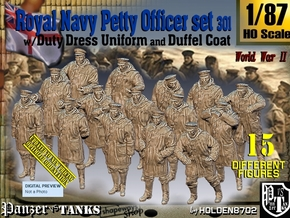 1/87 Royal Navy DC Petty Officers Set301 in Smooth Fine Detail Plastic