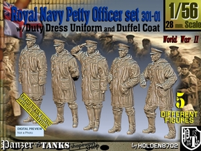1/56 Royal Navy DC Petty OffIcer Set301-01 in Smooth Fine Detail Plastic
