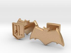 Batman cufflinks in Natural Bronze