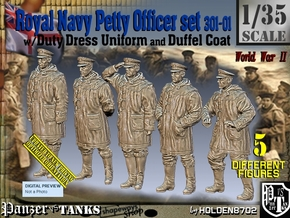 1/35 Royal Navy DC Petty OffIcer Set301-01 in Smooth Fine Detail Plastic