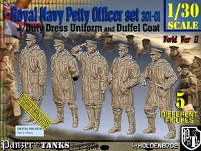 1/30 Royal Navy DC Petty OffIcer Set301-01 in White Natural Versatile Plastic