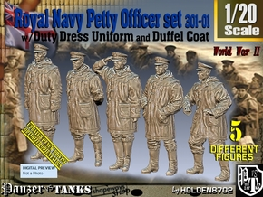 1/20 Royal Navy DC Petty OffIcer Set301-01 in White Natural Versatile Plastic