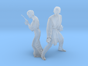 1/48 Leia and Luke for Space Diorama in Smoothest Fine Detail Plastic