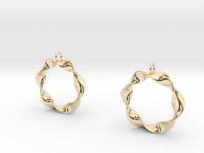 Mobius Earrings in 14K Yellow Gold