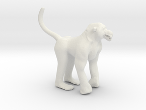 Printle Thing Baboon - 1/24 in White Natural Versatile Plastic