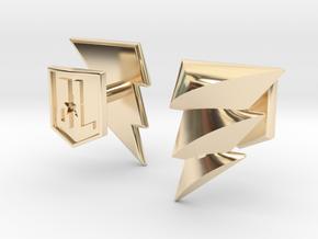 Shazam cufflinks in 14K Yellow Gold