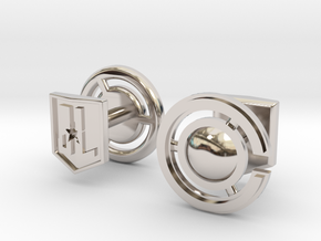 Cyborg cufflinks in Rhodium Plated Brass