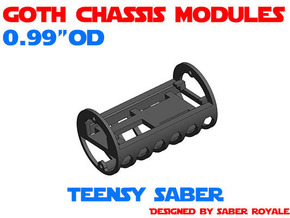 GCM099 - Teensy Saber soundboards chassis in White Natural Versatile Plastic