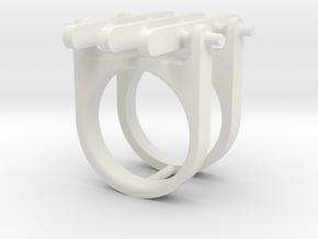 GEAR 3 in White Premium Versatile Plastic: 6 / 51.5