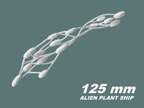Alien Plant Ship, 125 mm in White Natural Versatile Plastic