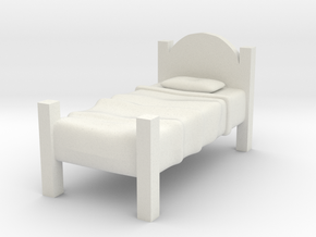 Twin Bed  in White Natural Versatile Plastic