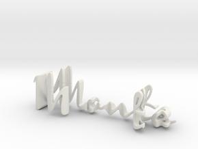 3dWordFlip: Monte/Randy in White Natural Versatile Plastic