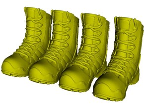 1/18 scale military boots C x 2 pairs in Smooth Fine Detail Plastic