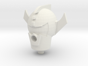 Mecha Acroyear Head in White Natural Versatile Plastic