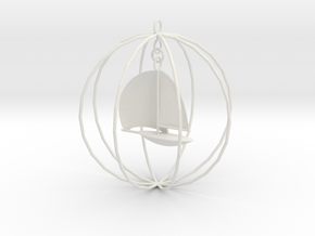 Sailboat ornament in White Natural Versatile Plastic