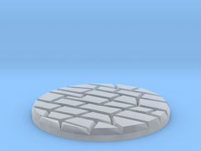 "Dungeon Floor 1"" Circular Miniature Base Plate in Smooth Fine Detail Plastic"