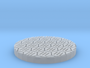 "Hex Grate 1"" Circular Miniature Base Plate in Smooth Fine Detail Plastic"