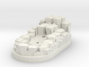 "Magic Crystal 1""x 2"" Miniature Base Plate in White Natural Versatile Plastic"