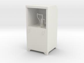 Garage Oil Dispenser Cabinet 1:24 Scale in White Natural Versatile Plastic