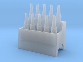Garage Oil Bottle Rack 1:24 Scale in Smooth Fine Detail Plastic