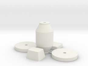 Bench Grinder Parts in White Natural Versatile Plastic