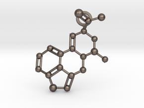 LSA molecule (medium) in Polished Bronzed-Silver Steel