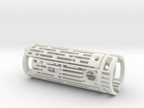 Obi Arena lightsaber hilt chassis in White Natural Versatile Plastic