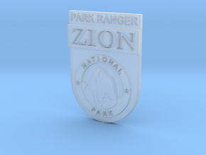 Zion Park Ranger Badge in Smooth Fine Detail Plastic: Small