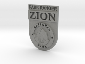 Zion Park Ranger Badge in Gray Professional Plastic: Small