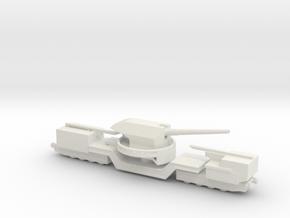TM-1-180 railway artillery 1/72 in White Natural Versatile Plastic