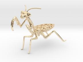 Praying mantis in 14k Gold Plated Brass