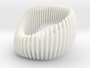 BRACELET_WAVE 01a3 wider 2 in White Processed Versatile Plastic