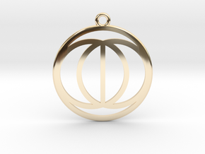 Vesica Picis in 14k Gold Plated Brass