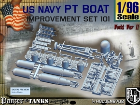 1/96 PT Boat Improvement Set101 in Smooth Fine Detail Plastic
