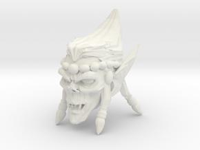 Interplanar villian head open mouth 1 in White Natural Versatile Plastic