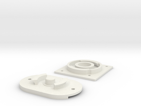 Swivel Set for EPONG v2 in White Natural Versatile Plastic