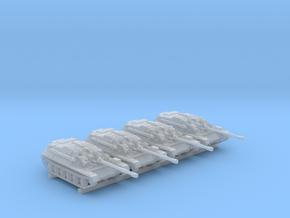 1/285 Russian ASU-85 Self Propelled Gun x4 in Smoothest Fine Detail Plastic