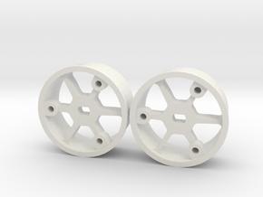 "4WD - jantes ""No glue !"" - Offset 0 in White Natural Versatile Plastic"