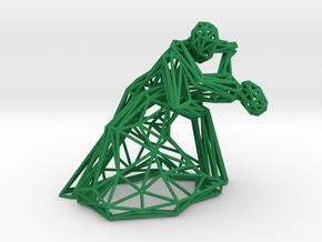 Dancing Couple in Green Processed Versatile Plastic