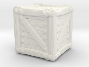 Small Crate A in White Natural Versatile Plastic
