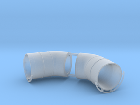 Westland Wessex Exhaust with Guards (pair) 1:32 in Smoothest Fine Detail Plastic
