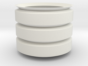Cilinder_Pot in White Natural Versatile Plastic: 6mm