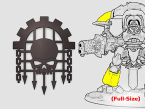 Caged Skull: Knight Insignias (Shoulder/Shin) in Smooth Fine Detail Plastic