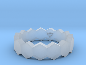 Hex Ringsaround Hexagon Geometric Ring Sizes 6-10 in Smoothest Fine Detail Plastic: 6 / 51.5